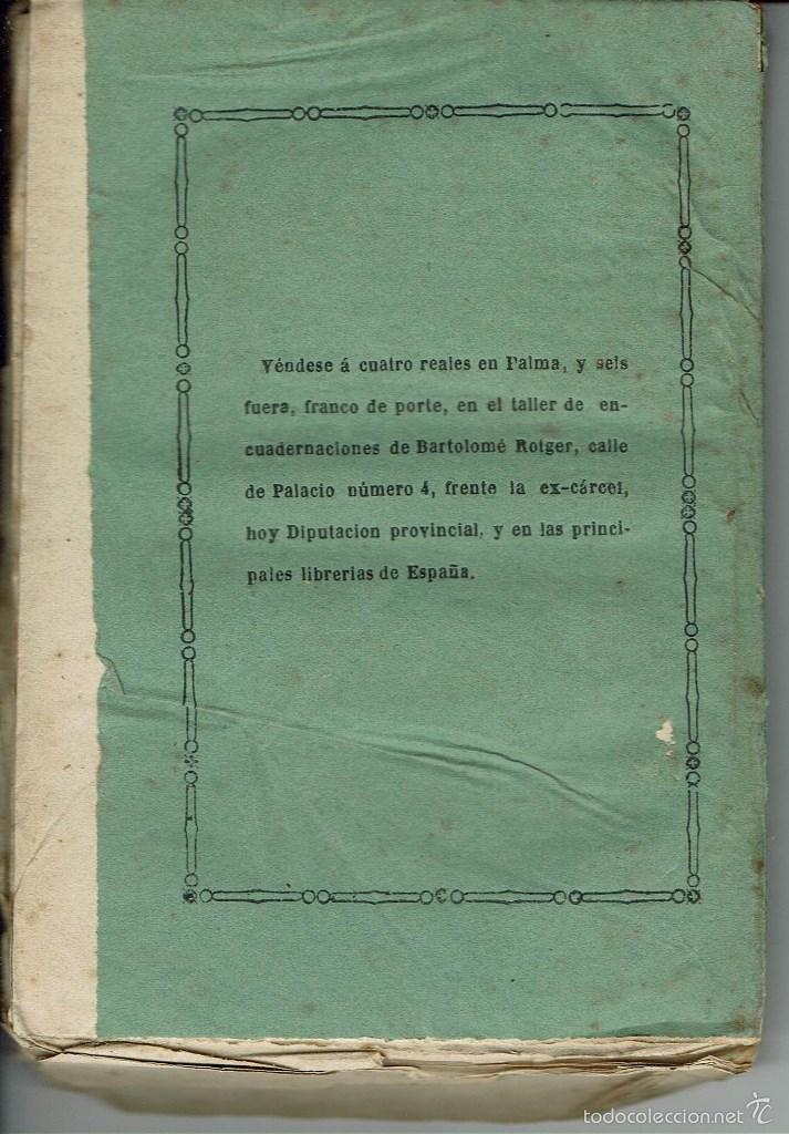 Libros antiguos: FISIOLOGIA DE LA TIMBA Y TRATADO COMPLETO DEL JUEGO DEL MONTE. PALMA. AÑO 1872. (9.2) - Foto 2 - 56529243