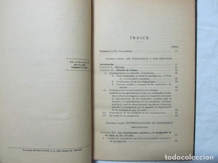 Libros antiguos: El rendimiento escolar y la inteligencia 1935 M. Kaczynska - Foto 6 - 76176059