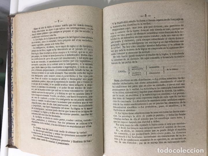 Libros antiguos: CURSO DE PSICOLOGÍA Y LÓGICA por D.Pedro felipe Monlau - 7ª EDICION -1866 - Foto 3 - 79967405