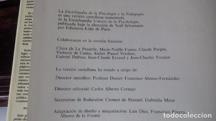 Libros antiguos: Enciclopedia de la Psicologia y pedagogia - Foto 8 - 82141120