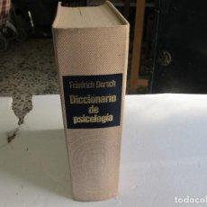 Libros antiguos: DICCIONARIO DE PSICOLOGIA (FRIEDRICH DORSCH) EDITORIAL HERDER 1985. Lote 83626784