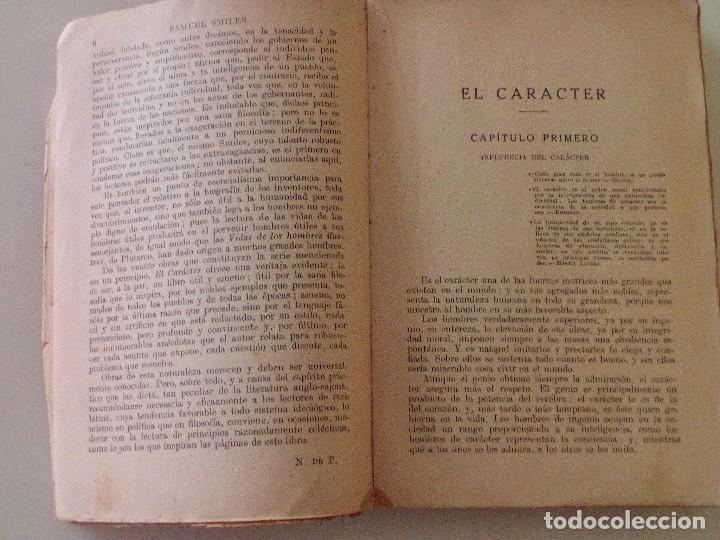 Libros antiguos: SAMUEL SMILES: EL CARACTER, edición de 1935. EDITORIAL RAMON SOPENA - Foto 3 - 89607940
