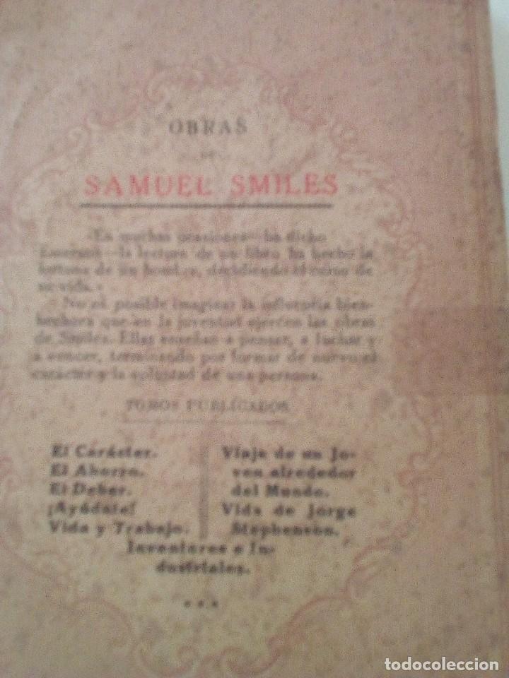 Libros antiguos: SAMUEL SMILES: EL CARACTER, edición de 1935. EDITORIAL RAMON SOPENA - Foto 4 - 89607940
