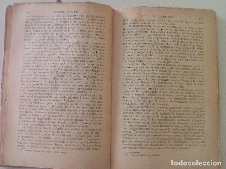 Libros antiguos: SAMUEL SMILES: EL CARACTER, edición de 1935. EDITORIAL RAMON SOPENA - Foto 6 - 89607940
