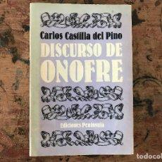 Libros antiguos: DISCURSO DE ONOFRE DE CARLOS CASTILLA DEL PINO. Lote 91347550