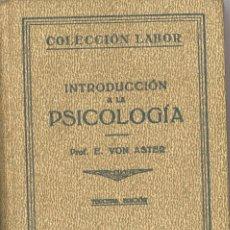 Libros antiguos: INTRODUCCION A LA PSICOLOGIA. EDITORIAL LABOR. 1935. Lote 101994695