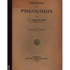 Libros antiguos: NOCIONES DE PSICOLOGÍA. SEGUNDA EDICIÓN CORREGIDA. Lote 103499483