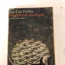 Libros antiguos: PRINCIPIOS DE PSICOLOGÍA (PINILLOS). Lote 104069355