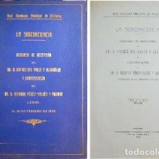 Libros antiguos: VALLE ALDABALDE, RAFAEL DEL (1863-1937). LA SUBCONCIENCIA. DISCURSO DE RECEPCIÓN EN LA REAL... 1923.. Lote 109337359