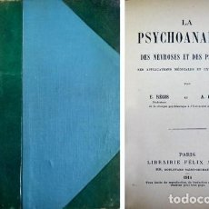 Libros antiguos: REGIS, E. Y HESNARD, A. LA PSYCHOANALYSE DES NÉVROSES ET DES PSYCHOSES. SES APPLICATIONS... 1914. . Lote 109338003