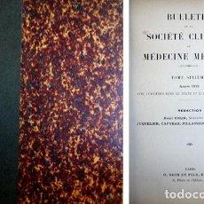 Libros antiguos: BULLETIN DE LA SOCIETÉ CLINIQUE DE MÉDECINE MENTALE. TOME SIXIÈME. ANNÉE 1913. 1914.. Lote 109338447