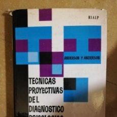 Libros antiguos: TECNICAS PROYECTIVAS DEL DIAGNOSTICO PSICOLOGICO. Lote 141154138