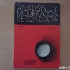 Libros antiguos: ANÁLISIS Y MODIFICACIÓN DE CONDUCTA. VOL. 5- 1979. Nº 9. PÁG. 167 - 326 . Lote 142693910
