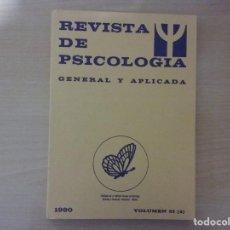 Libros antiguos: REVISTA DE PSICOLOGÍA GENERAL Y APLICADA. AÑO 1980. VOLUMEN 35 (4). NÚMERO 165. Lote 142702666