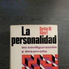 Libros antiguos: LA PERSONALIDAD SU CONFIGURACIÓN Y DESARROLLO. Lote 146262114