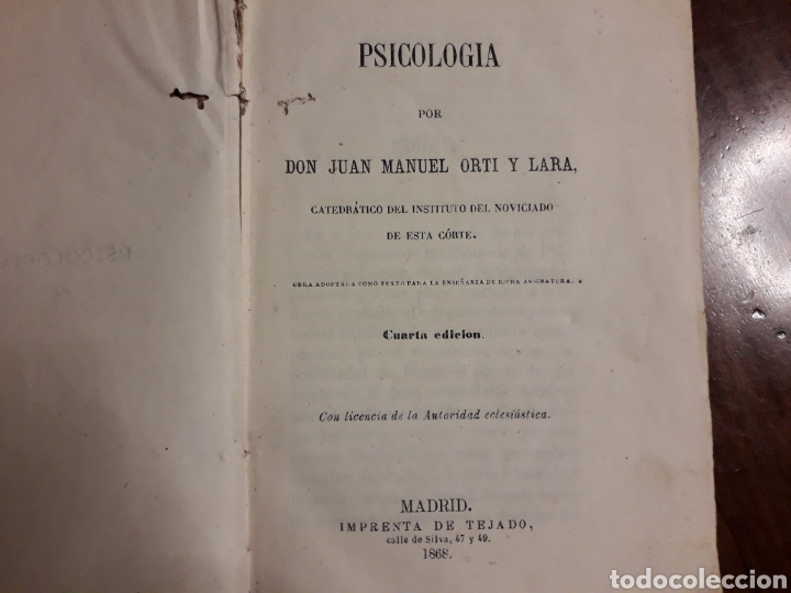 Libros antiguos: Libro de PSICOLOGÍA - Foto 2 - 152032601