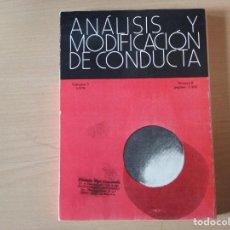 Libros antiguos: ANÁLISIS Y MODIFICACIÓN DE CONDUCTA. VOL. 5- 1979. Nº 8. PÁG. 1 - 165 . Lote 155359846