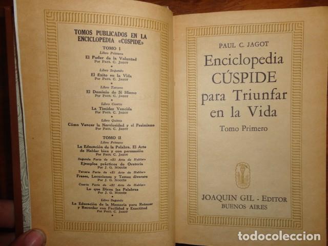 OBRAS DE JAGOT, ENCICLOPEDIA CUSPIDE PARA TRIUNFAR EN LA VIDA, JOAQUIN GIL EDITOR (Libros Antiguos, Raros y Curiosos - Pensamiento - Psicología)