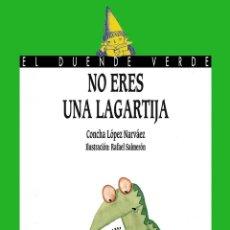 Libros antiguos: NO ERES UNA LAGARTIJA. - LÓPEZ NÁRVAEZ, CONCHA.. Lote 156806130