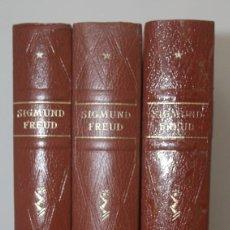 Libros antiguos: SIGMUND FREUD TRES TOMOS OBRAS COMPLETAS TERCERA EDICION CANTO SUPERIOR EN DORADO. Lote 157029630