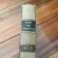 Libros antiguos: CURSO DE PSICOLOGÍA POR H. AHRENS. ANTROPOLOGÍA-PSICOLOGÍA-METAFÍSICA. 1873. Lote 160280962