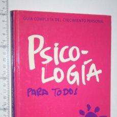 Libros antiguos: PSICOLOGÍA PARA TODOS (VOL.1) *** LIBRO GUÍA COMPLETA TERAPIA / MEDICINA *** GLOBUS. Lote 161254562