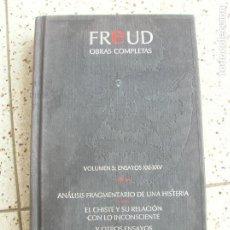 Libros antiguos: LIBRO FREUD OBRAS COMPLETAS VOLUMEN 5 ,EDICIONES ORBIS 1988 ,. Lote 161978418