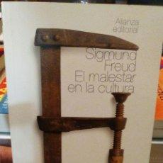 Libros antiguos: EL MALESTAR EN LA CULTURA (SIGMUND FREUD). ALIANZA ED. (2010). Lote 278691623