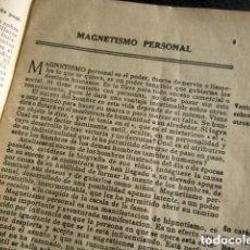 Libros antiguos: LA FILOSOFÍA DE LA INFLUENCIA PERSONAL. MILAGROS DEL MAGNETISMO PERSONAL Y DEL HIPNOTISMO.. Lote 168569668