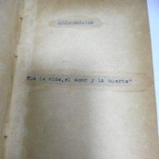 Libros antiguos: SCHOPENHAUER. DE LA VIDA, EL AMOR Y LA MUERTE. 240 PAGINAS.. Lote 180098390