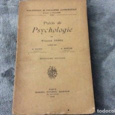 Libros antiguos: PSICOLOGÍA PRECISA. WILLIAM JAMES, 1932. ILUSTRADO.. Lote 182502223
