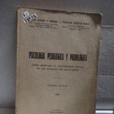 Libros antiguos: 28908 - PSOCOLOGIA PEDAGOGIA Y PAIDOLOGICA - 3ª EDICION - POR EMILIO LA TORRE Y OTROS - AÑO 1954. Lote 186372652