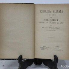 Libros antiguos: PSICOLOGÍA ALEMANA CONTEMPORÁNEA. T.H. RIBOT . Lote 187635356