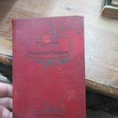 Libros antiguos: CUESTIONES SOCIALES, P. VÍCTOR VAN TRICHT. (1910). L.20290. Lote 189074098