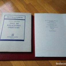 Libros antiguos: TEST DE RELACIONES OBJETALES (PAIDÓS) Y DE FACTOR Y DOMINO ANTIGUOS. Lote 194008358