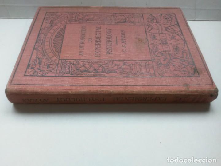 Libros antiguos: An Introduction to Experimental Psychology C.S.Myers Cambridge University Press 1914 Libro en inglés - Foto 6 - 194403205