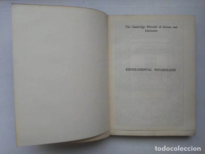 Libros antiguos: An Introduction to Experimental Psychology C.S.Myers Cambridge University Press 1914 Libro en inglés - Foto 9 - 194403205