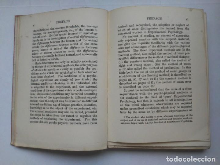 Libros antiguos: An Introduction to Experimental Psychology C.S.Myers Cambridge University Press 1914 Libro en inglés - Foto 13 - 194403205