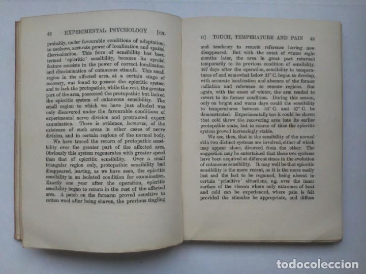 Libros antiguos: An Introduction to Experimental Psychology C.S.Myers Cambridge University Press 1914 Libro en inglés - Foto 17 - 194403205