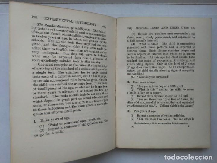 Libros antiguos: An Introduction to Experimental Psychology C.S.Myers Cambridge University Press 1914 Libro en inglés - Foto 21 - 194403205