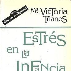 Libros antiguos: ESTRES EN LA INFANCIA SU PREVENCION Y TRATAMIENTO MARIA VICTORIA TRIANES NARCEA. Lote 194534227