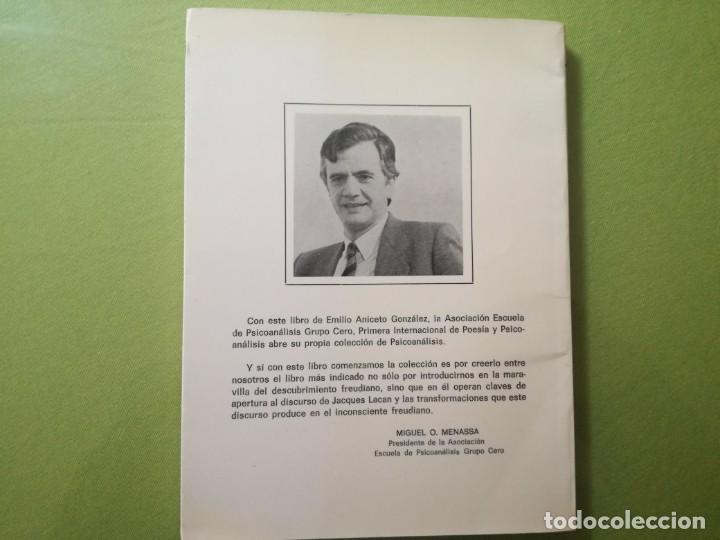 Libros antiguos: INCONSCIENTE COMO LENGUAJE. Del signo en Saussure al significante en Lacan. Emilio Aniceto. - Foto 3 - 201952768