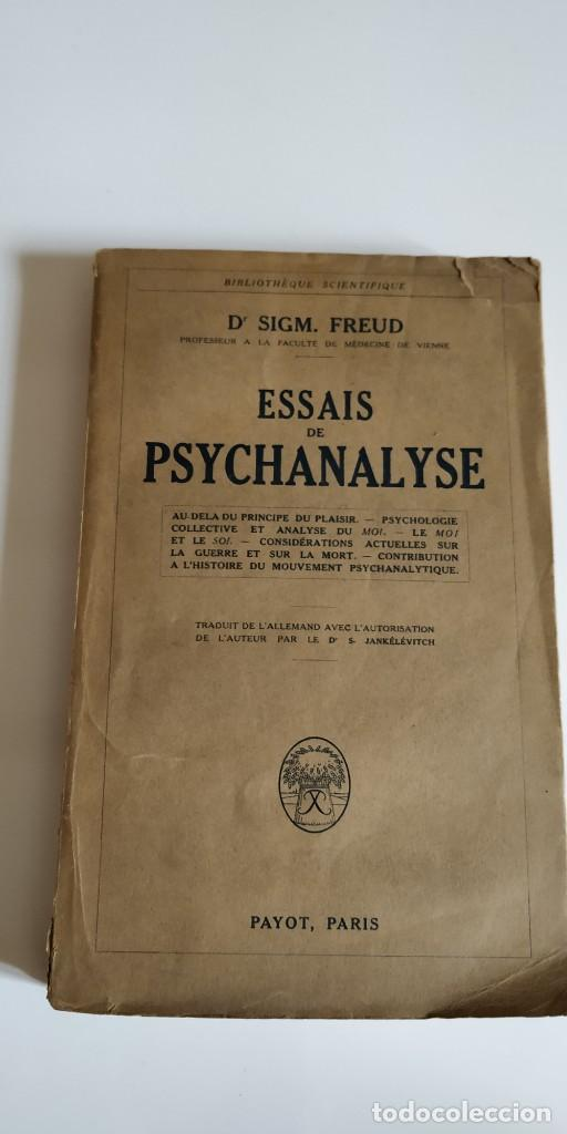 ESSAIS DE PSYCHANALYSE. 1927. 1ERA EDICION FRANCESA (Libros Antiguos, Raros y Curiosos - Pensamiento - Psicología)