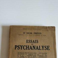 Libros antiguos: ESSAIS DE PSYCHANALYSE. 1927. 1ERA EDICION FRANCESA. Lote 203928260