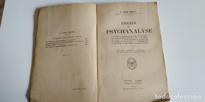 Libros antiguos: ESSAIS DE PSYCHANALYSE. 1927. 1era edicion francesa - Foto 2 - 203928260