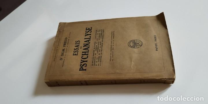 Libros antiguos: ESSAIS DE PSYCHANALYSE. 1927. 1era edicion francesa - Foto 3 - 203928260