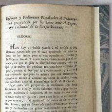 Libros antiguos: INFORME Y PEDIMENTO FISCAL SOBRE EL PEDIMENTO PRESENTADO POR LOS LOCOS ANTE EL SUPREMO TRIBUNAL DE L. Lote 123260452