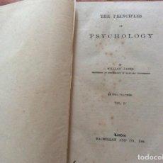 Libros antiguos: LOS PRINCIPIOS DE LA PSICOLOGÍA. POR JAMES, WILLIAM, 1918. VOL. II. ILUSTRADO. MUY RARO.. Lote 205613133