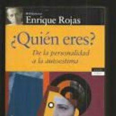Libros antiguos: QUIEN ERES. DE LA PERSONALIDAS A LA AUTOESTIMA. Lote 218913387