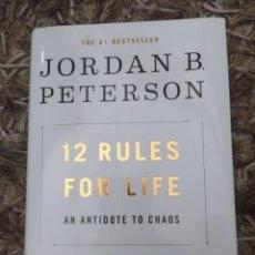 Libros antiguos: JORDAN PETERSON 12 REGLAS PARA LA VIDA TAPA DURA (INGLÉS). Lote 219079326